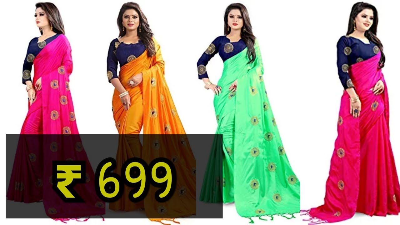 f1d7c2fb5d45e Paper Silk Saree with Beautiful Embroidery