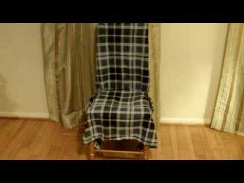 How to make an affordable slipcover for a chair without sewing