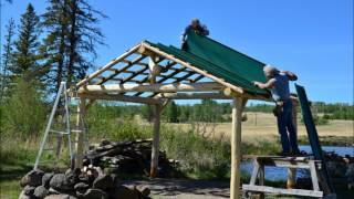 Building A Log Gazebo At Big Bar Lake