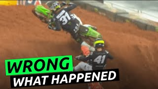2021 Atlanta 1 Supercross Crashes Examination