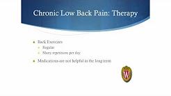 Management of Low Back Pain