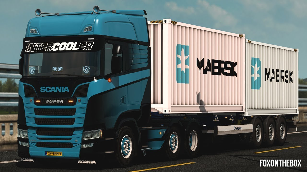 Krone Container Trailer 2x20ft *Ownable trailers* | Euro Truck Simulator 2  (ETS2 1 32) by Fox On The Box