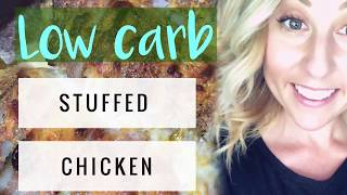 Spinach & Cheese Stuffed Chicken- Low Carb- Recipe- Ashley Witmer