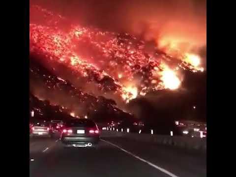 Apocalypse Today-live FIRE Burning Mountain California