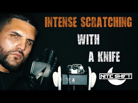 ASMR Intense Scratching With A Knife