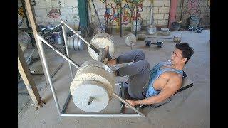 EPIC LEG WORKOUT   CONCRETE WEIGHTS -Beast Mode