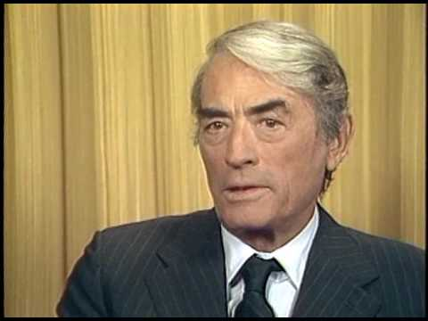 with Gregory Peck 1983