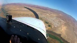 Cessna 172R Slow flight,doing S turn and side slip on final runway 32 lake havasu, AZ