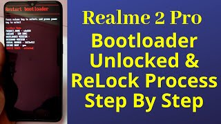 Unlock Bootloader Of RealMe 2 Pro (Step 1) : Full Guide Guys, In this video I have shown you about U.