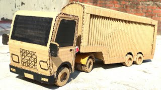 Cardboard Truck Container: Amazing Truck Container DIY At Home - DC Gear Motor Truck Container