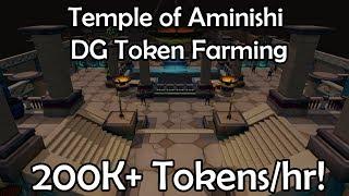 Temple of Aminishi DG Token Farming Guide - 200k+ DG Tokens/hr