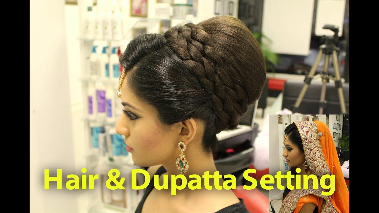 TUTORIAL Indian Pakistani Asian Bridal Hair Style