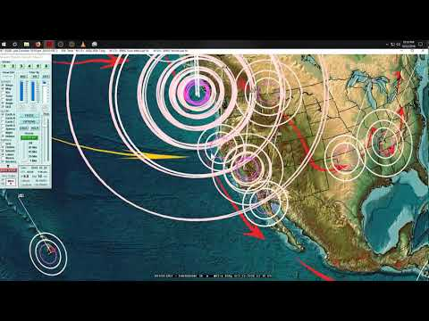 10/23/2018 -- Major Earthquake Activity strikes USA West Coast -- Pacific unrest likely