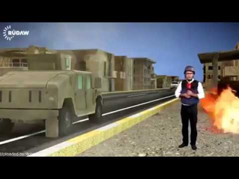 پەیامنێری رووداو هێمن هەورامی لە شاری موسڵ - Rudaw HD 3D Video