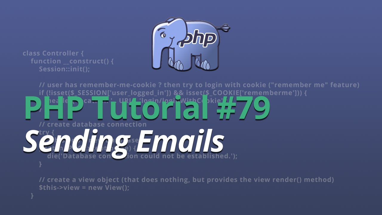PHP Tutorial - #79 - Sending Emails