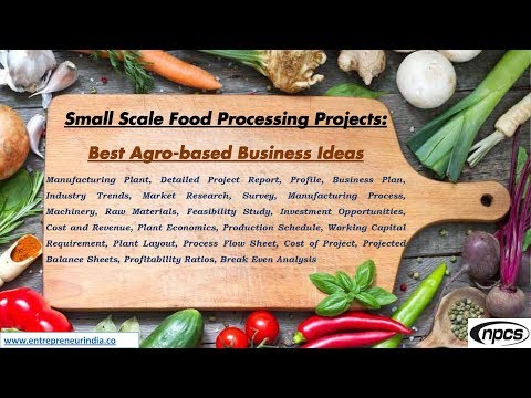 Small Scale Food Processing Projects: Best Agro-Based Business Ideas