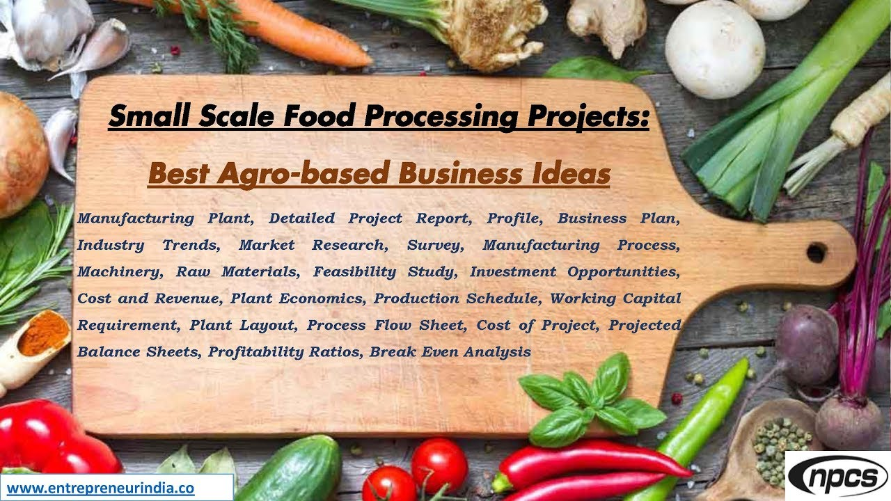 Small Scale Food Processing Projects Best Agro Based Business Ideas