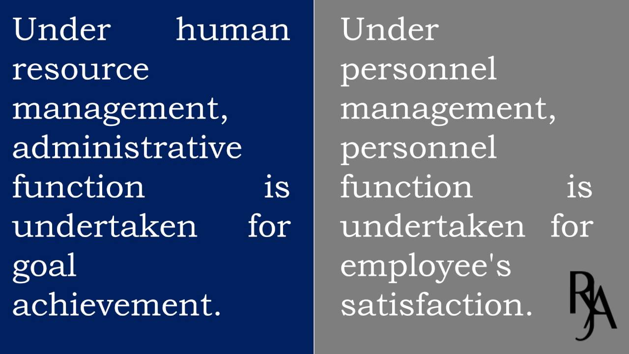 Personnel Management: it's Definitions, Objectives and Functions
