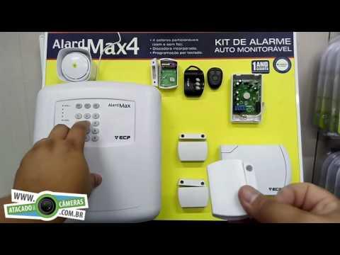 Configurar sensor sem fio e controle remoto na AlardMax ECP