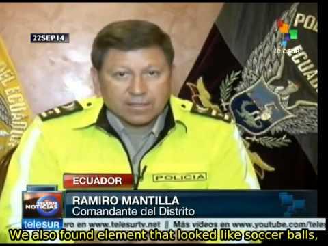 Ecuador: police find explosives at a school in central Quito