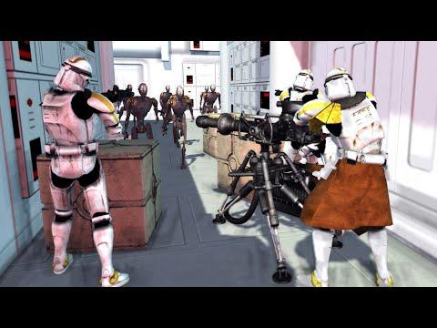 Clone Ship Boarded by Commando Droids! - Men of War: Star Wars Mod Battle Simulator  