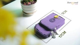 Three-Layer Storage Zipper Waterproof Shoulder Bag Wrist bag For iPhone 7 Plus 6sPlus 5.5 Inch