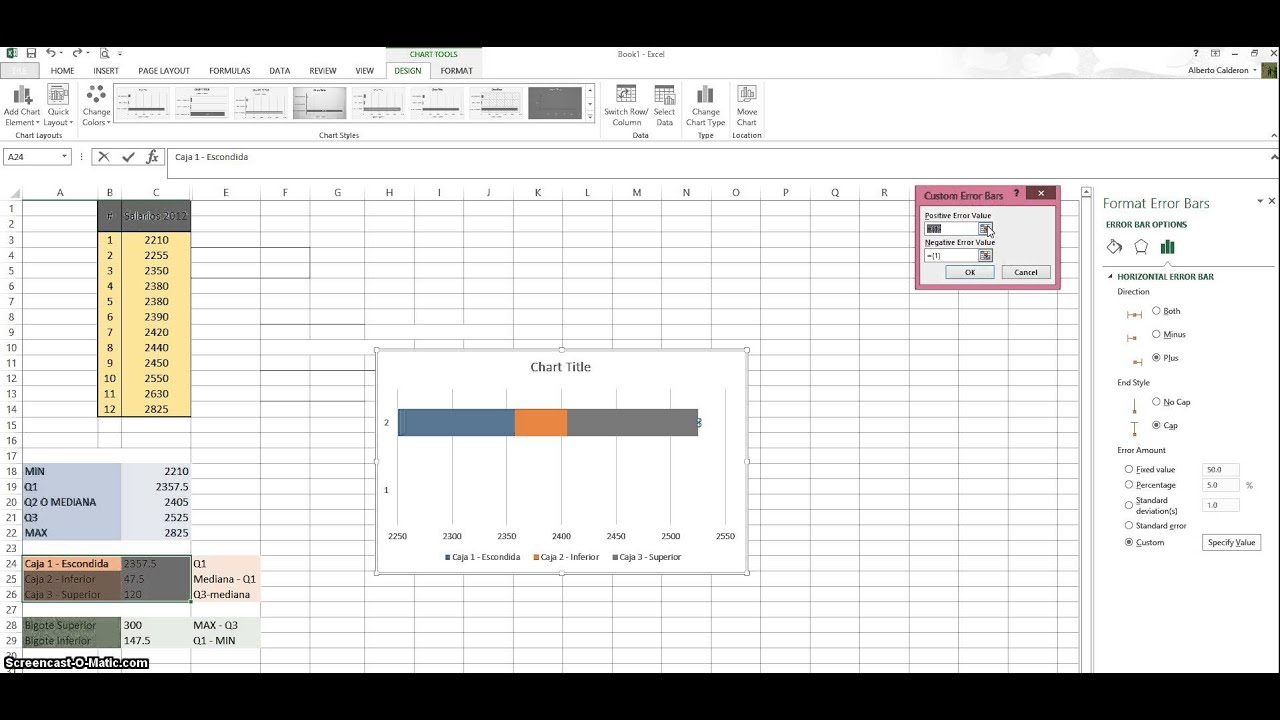 Diagrama de Caja Excel 2013 - YouTube