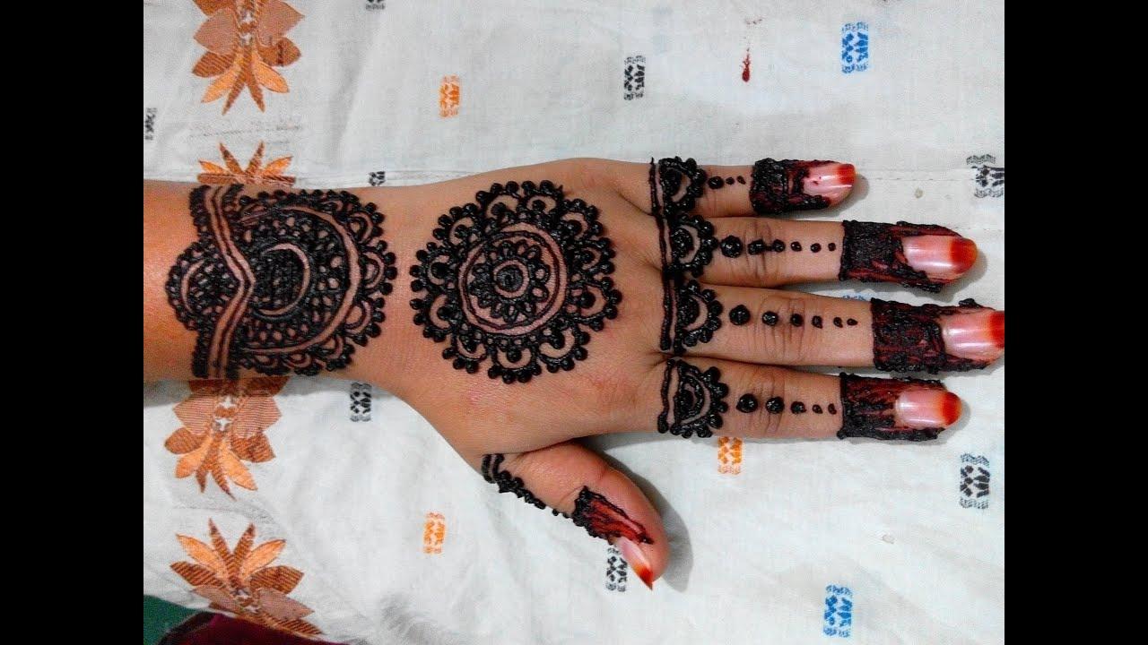 Mehndi Henna Design With Peacock Motif : Mehndi henna design with peacock motif tutorials