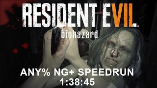 Resident Evil 7 biohazard Any% NG+ Speedrun 1:38:45 (PC)(PB)
