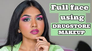 FULL FACE OF DRUGSTORE/AFFORDABLE MAKEUP