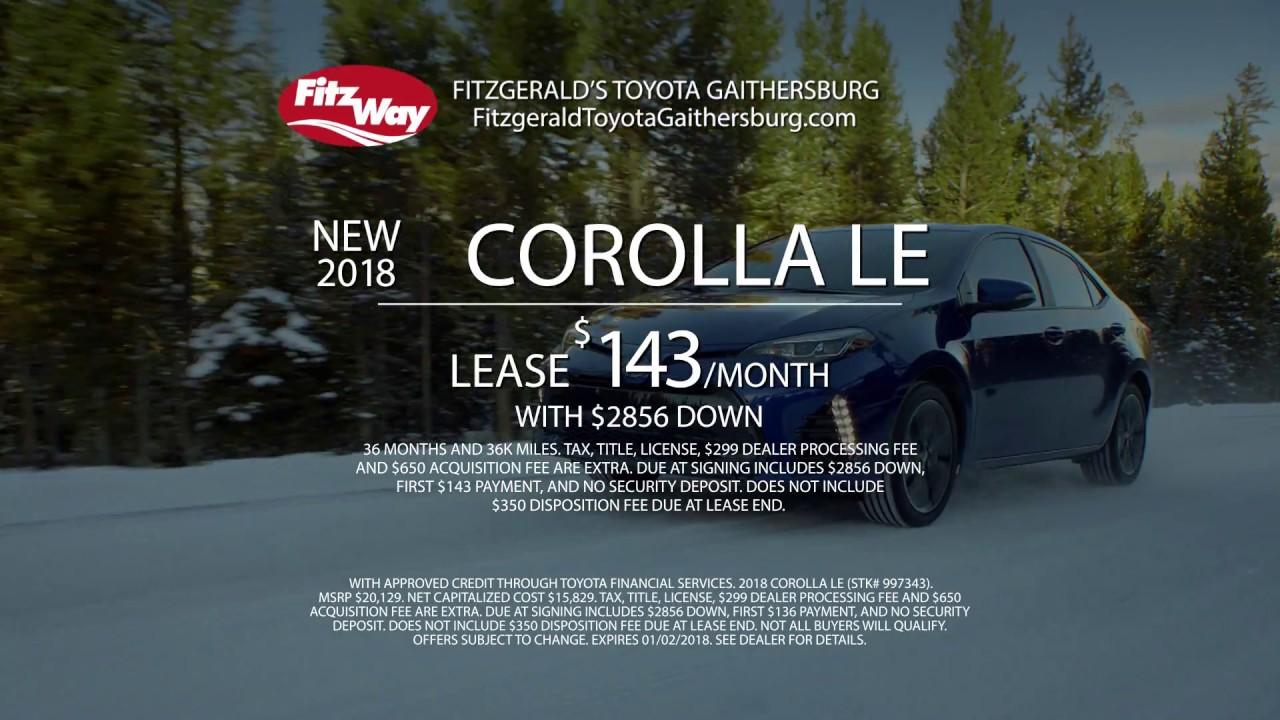 Fitzgerald Toyota Gaithersburg   December 2017 Offer