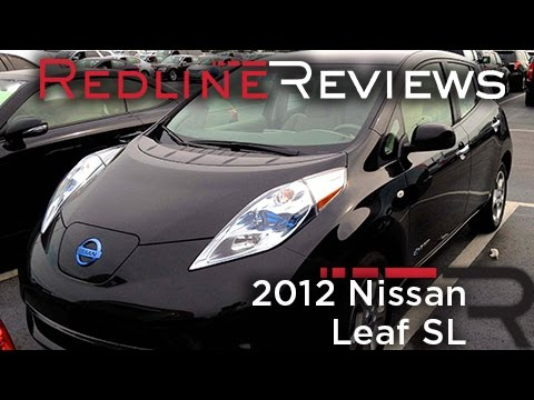 2012 Nissan Leaf Sl Review Walkaround Startup Youtube