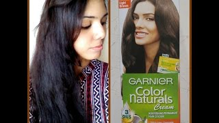 Garnier Color Naturals Cream Hair Color- No.5 Light Brown Review & Demo