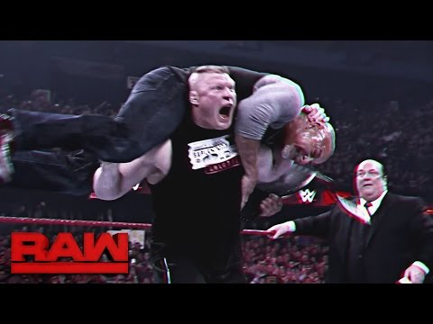 An in-depth look at the rivalry between Goldberg and Brock Lesnar - Part 1: Raw, March 20, 2017