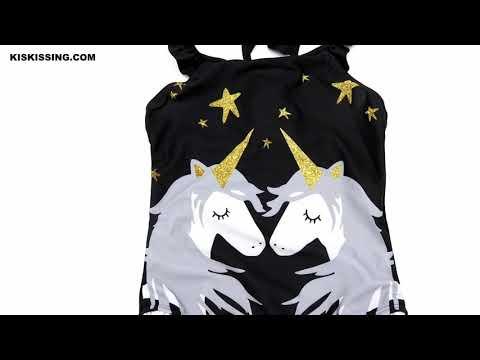 cartoon-frilled-little-big-kids-unicorn-one-piece-bathing-suit-wholesale