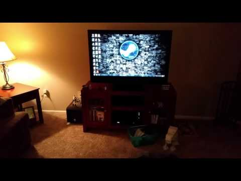 Booting up the living room gaming PC