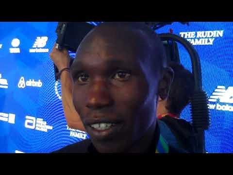 Geoffrey Kamworor Talks about his NYC Win