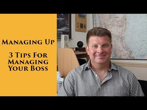 Managing Up - 3 Tips for Managing Your Boss
