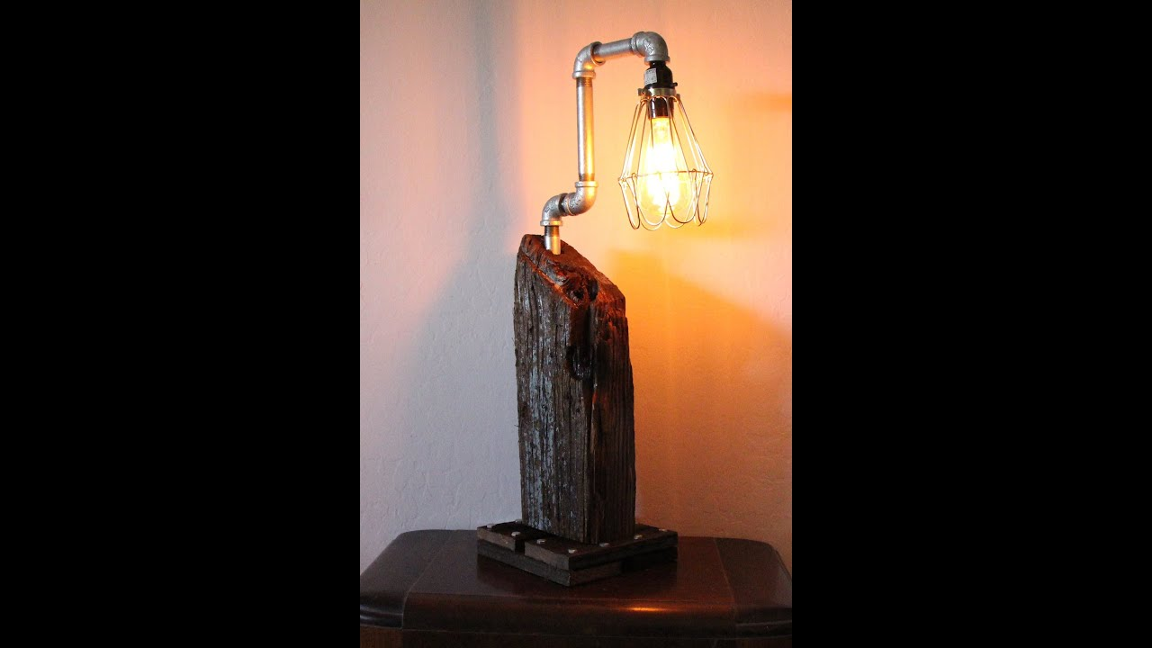 build an edison lamp from reclaimed wood youtube