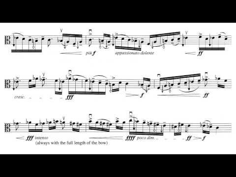 György Ligeti - Sonata for Solo Viola [1/5]
