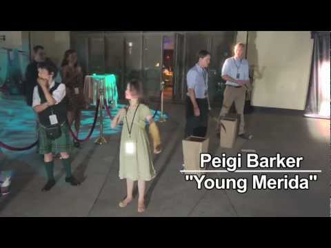 Peigi Barker (Young Merida) hits a bullseye at the Disney Premiere of Brave