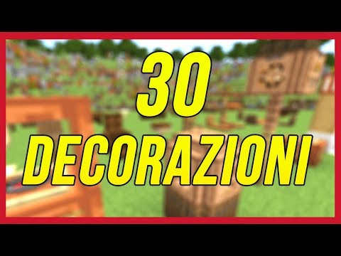 Minecraft: 30 Decorazioni 1.13