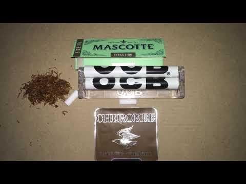 Как скрутить самокрутку. Табак Cherokee chocolate kiss. Машинка OCB. Бумага Mascotte. How to roll