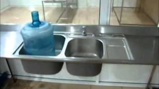manual bottled water filling washing system