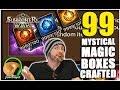 SUMMONERS WAR : Crafting 99 Mystical Magic Boxes!!!