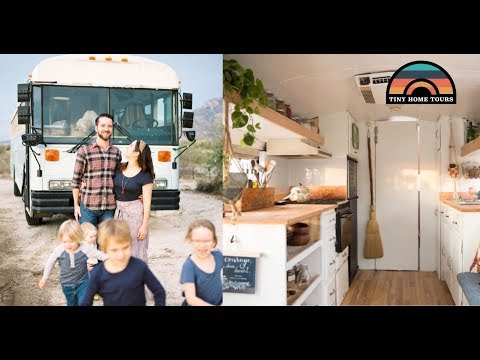 Family Of 6 & Their Beautiful Tiny Home ~ DIY School Bus Conversion