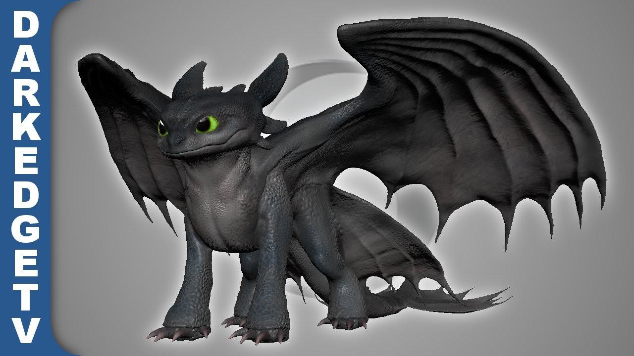 Sculptris  Nightfury, How To Train Your Dragon