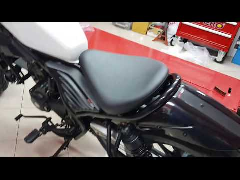 Install Honda Rebel CMX 300  500 Real Cowl Tail tidy with Light