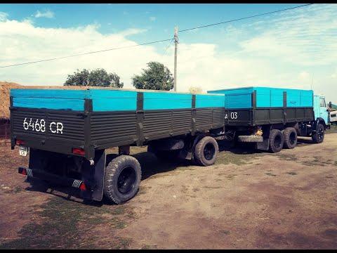 КамАЗ 5320 в сцепке с прицепом ГКБ 8352. Обзор автопоезда.