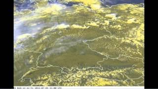 1.7.2013 - Počasí nad Evropou - radary zasahují